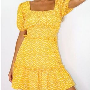 New Missguided Yellow Dress